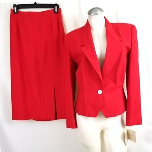 Vintage w/ tags Haberdasher Skirt Suit Red